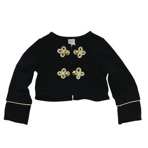 Tahari Black Bolero Band Jacket